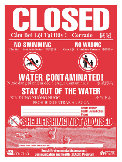Sewer Overflows Closing Area Beaches!